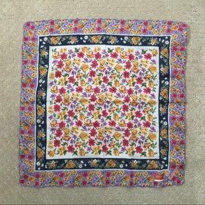 Kenzo vintage floral cotton handkerchief
